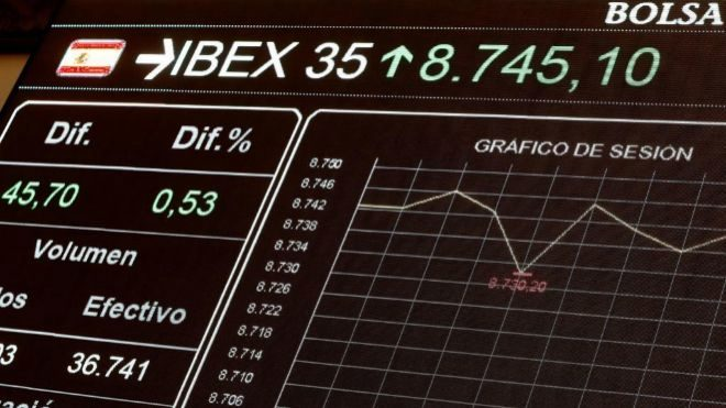 DF: El Ibex sube un 0,73% y alcanza los 8.700 puntos