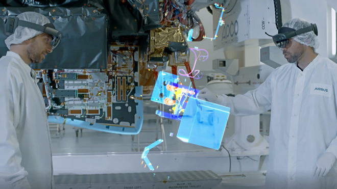 Los ingenieros de Airbus emplean las gafas de realidad mixta de...