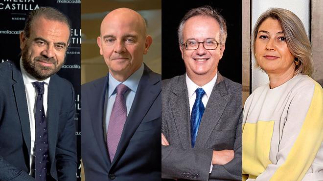 De izquierda a derecha: Gabriel Escarrer, consejero delegado de...