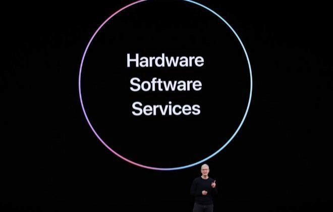 Tim Cook, CEO de Apple, durante la keynote.