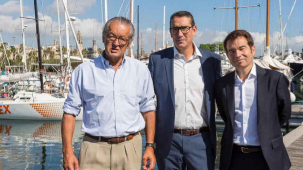 Luis Conde, Jordi Freixas y Carlos Sanlorenzo, durante la...