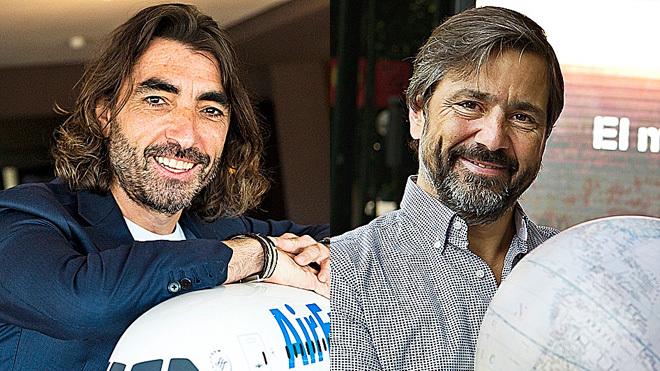 Javier Hidalgo, consejero delegado de Globalia (izquierda) y Gabriel...