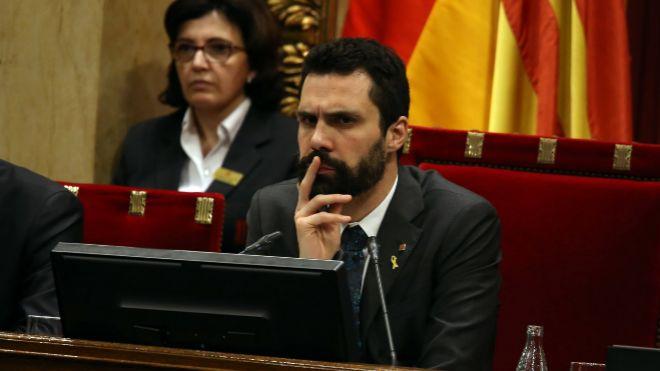 El presidente del Parlament de Cataluña, Roger Torrent.