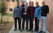 (De izda. a dcha) Jordi Sànchez, Oriol Junqueras, Jordi Turull,...