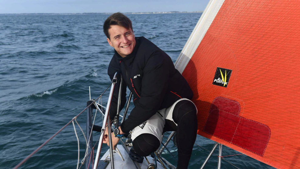 Basile Bougnon, durante un entrenamiento a bordo del Edenred. |  FRED...