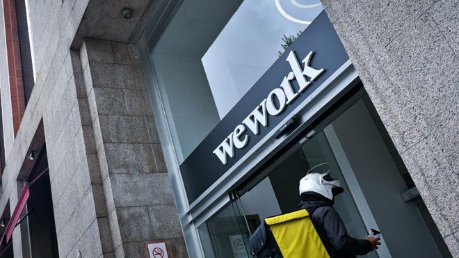Edificio de oficinas gestionado por WeWork en el madrileño Paseo de...