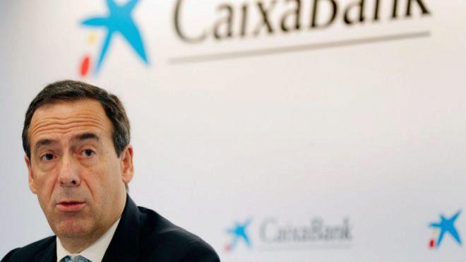 El consejero delegado de <HIT>CaixaBank</HIT>, Gonzalo Gortázar, durante la presentación de resultados del tercer trimestre del 2019 . EFE/Kai Försterling