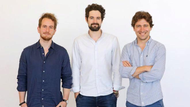 Gabor Balogh, Ramón Castro y Lluis Bardají, fundadores de...