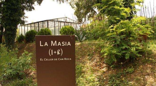 Entrada a La Masía de El Celler.