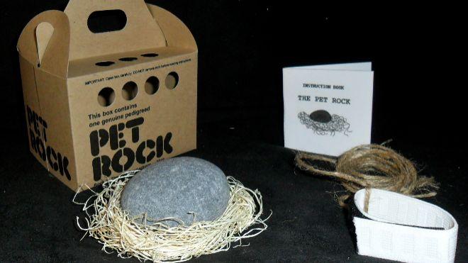 Pet Rock, la mascota ideada por el publicista Gary Dahl en los 70.