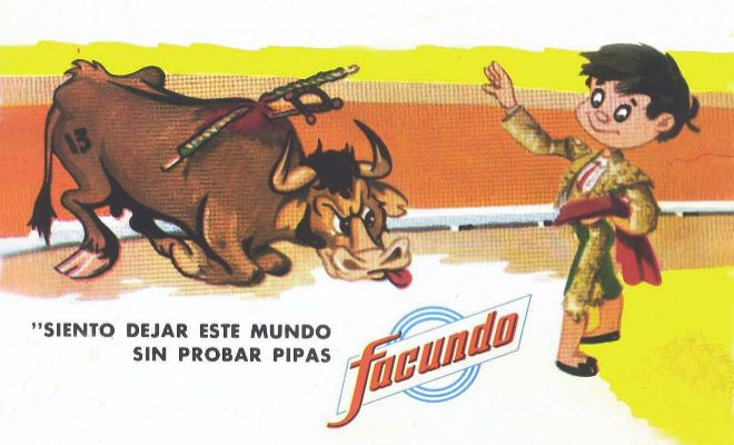 Antigua publicidad de Pipas Facundo.