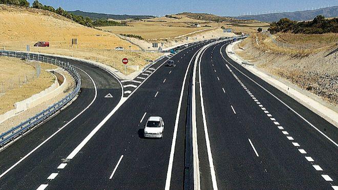 Un tramo de la Autovía del Camino de Santiago A-12.