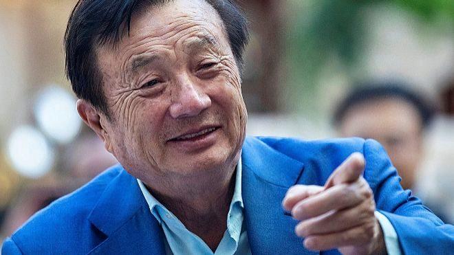 El fundador y consejero delegado de Huawei, Ren Zhengfei, durante la...