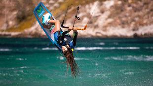 Gisela Pulido, durante un torneo de 'freestyle'. | ZACHARIAS...