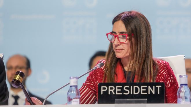La presidenta de la Cumbre del Clima, la chilena Carolina Schmidt