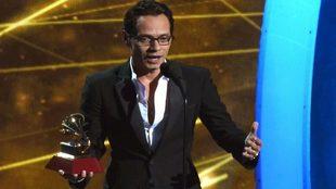 Marc Anthony, durante una entrega de premios.