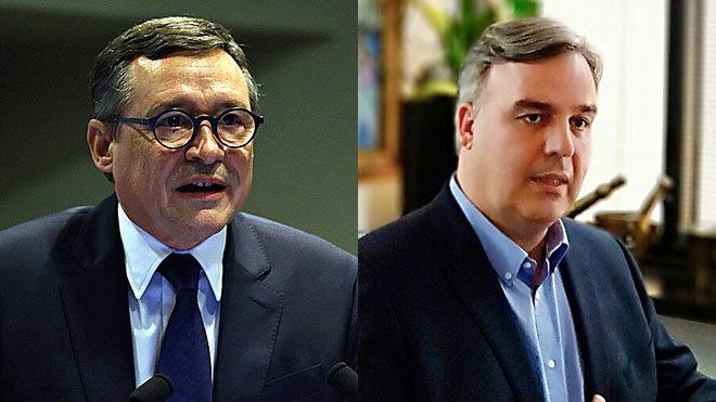 Ángel Simón, vicepresidente ejecutivo de Suez (izquierda) y Jordi...