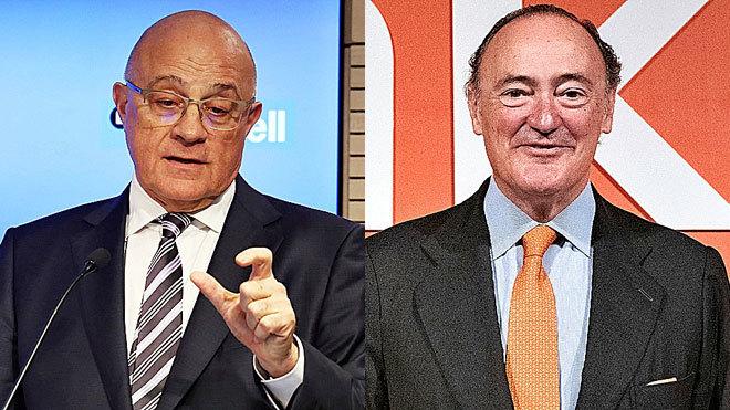 Josep Oliu, presidente de Banco Sabadell y Pedro Guerrero, presidente...
