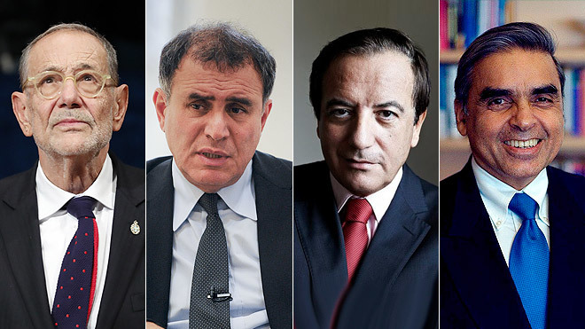 De izquierda a derecha, <strong>Javier Solana</strong>, &apos;Distinguised...