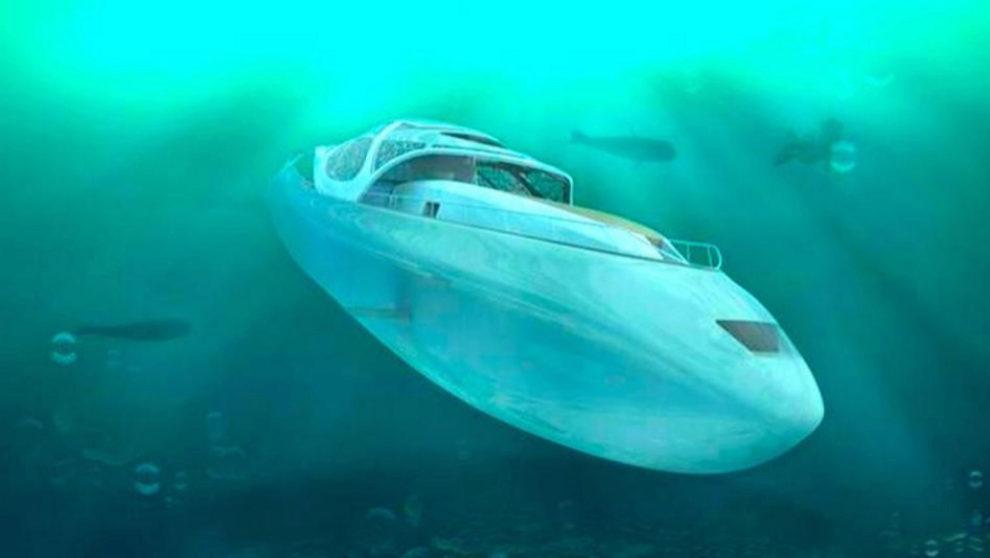 Diseño del 'Caparazón', el yate-submarino ideado por Elena...
