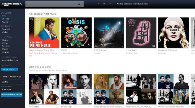 Amazon Prime Music es el servicio de música en 'streaming'...