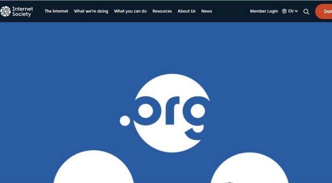 Web dell Public Interest Registry (PIR), encargado de la gestión del...