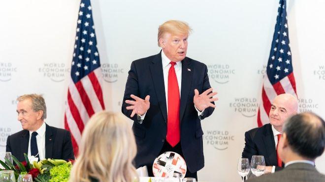 El presidente de EEUU, Donald Trump, en Davos.