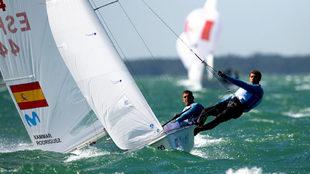 Jordi Xammar y Nico Rodríguez durante una de las pruebas disputadas...