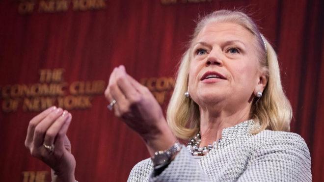 Ginni Rometty, hasta ahora CEO de IBM.