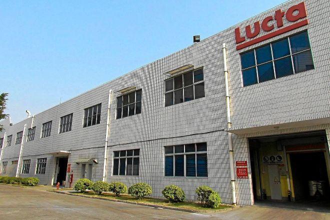 Planta del fabricante de aromas, fragancias y aditivos Lucta en China.
