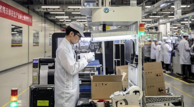 Fábrica de Huawei en Dongguan, China.