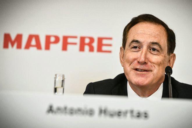 Antonio Huertas, el presidente de Mapfre, hoy en la presentación de...