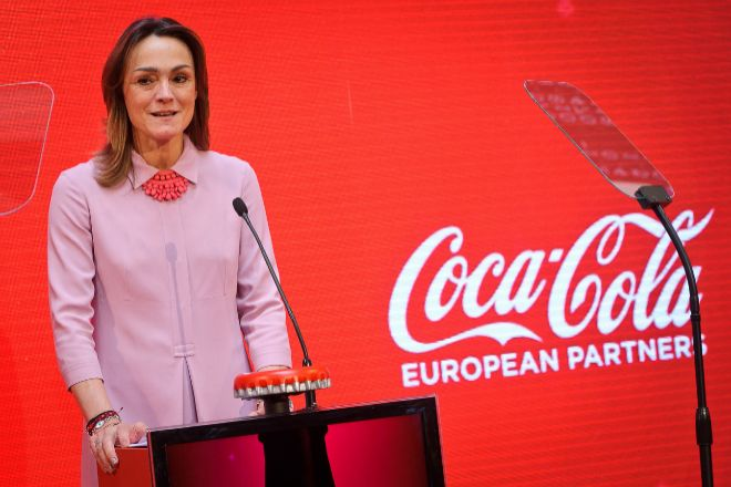 La presidenta de Coca-Cola Iberian Partners, Sol Daurella, en la Bolsa...