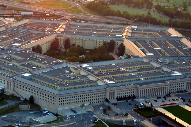Vista aérea del Pentágono.