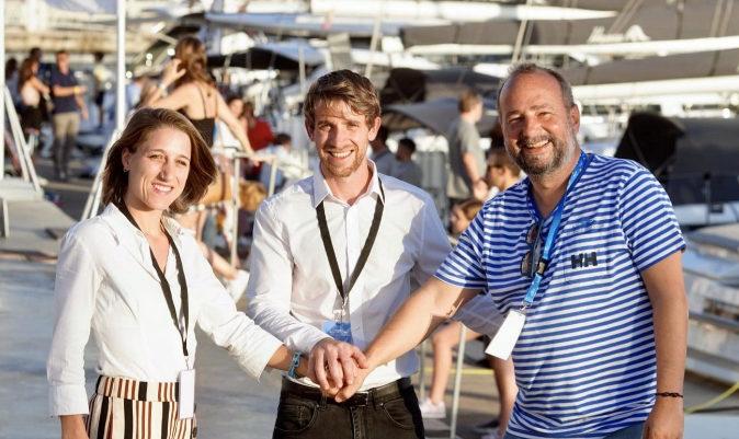 Nacho Gómez - Zarzuela, director del Valencia Bpaoat Show, junto con Adrián Vidal Vogt y María Bermúdez, fundadores y responsables de Fishow.