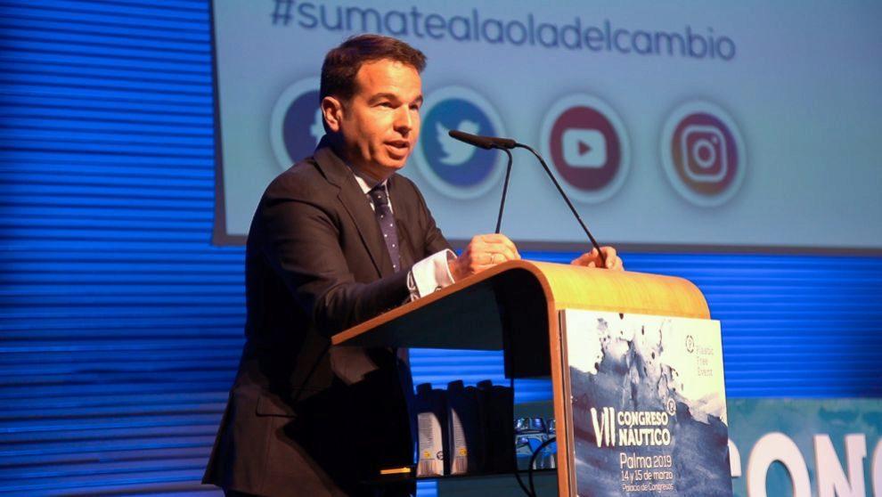 Carlos Sanlorenzo, durante la celebración del VII Congreso Náutico...