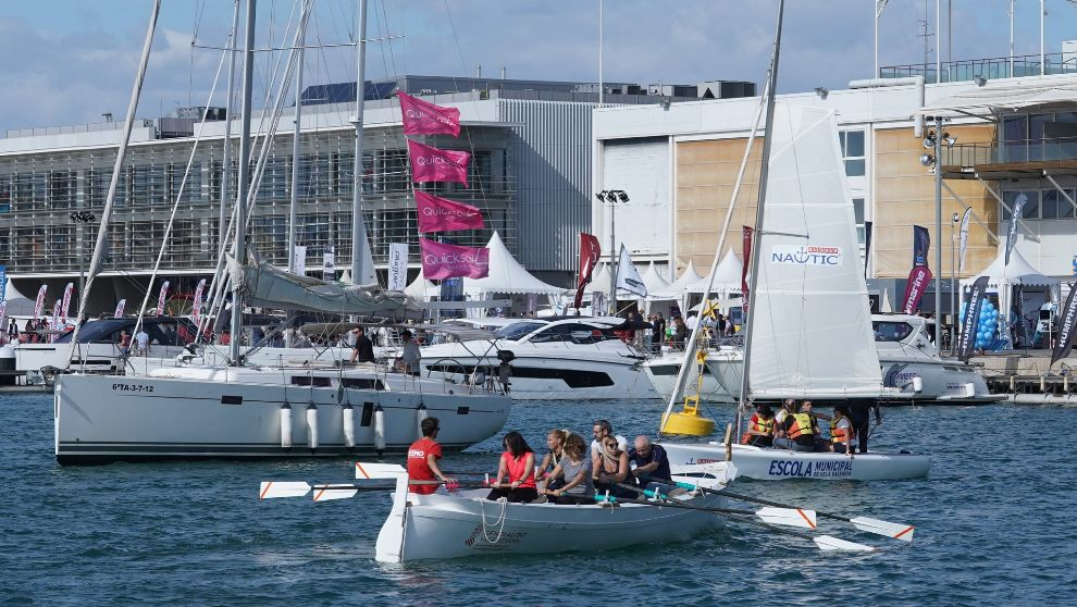 La dársena de la Marina de Valencia, durante el Valencia Boat Show. |...