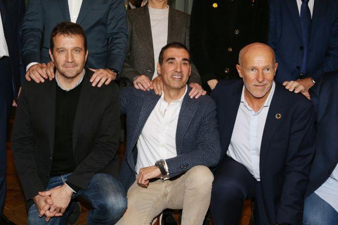 De izquierda a derecha, Vicens Martí, Miguel Vicente y Carlos Grau en...