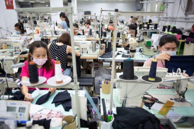 Fábrica textil en Taiwan.