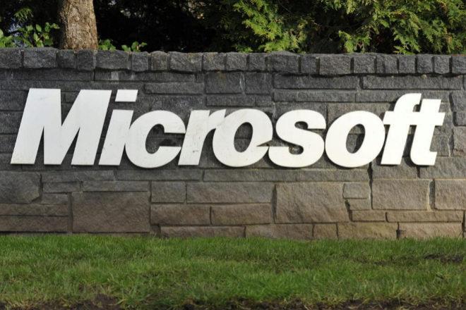 Cartel de Microsoft.