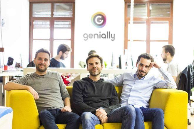 Luis García, Juan Rubio y Chema Roldán, fundadores de Genial.ly.