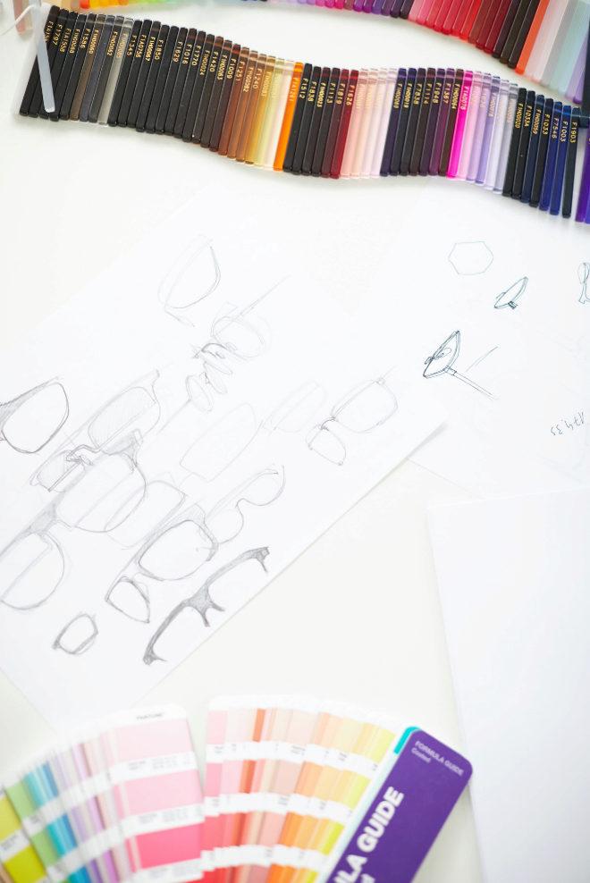 Algunos bocetos de los diseños.