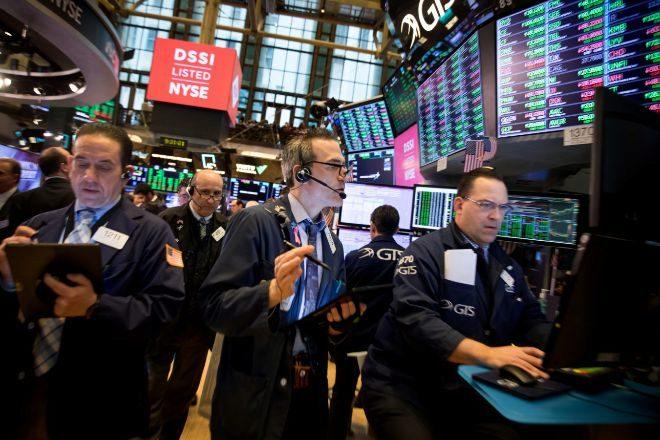 Operadores de la Bolsa de Nueva York.