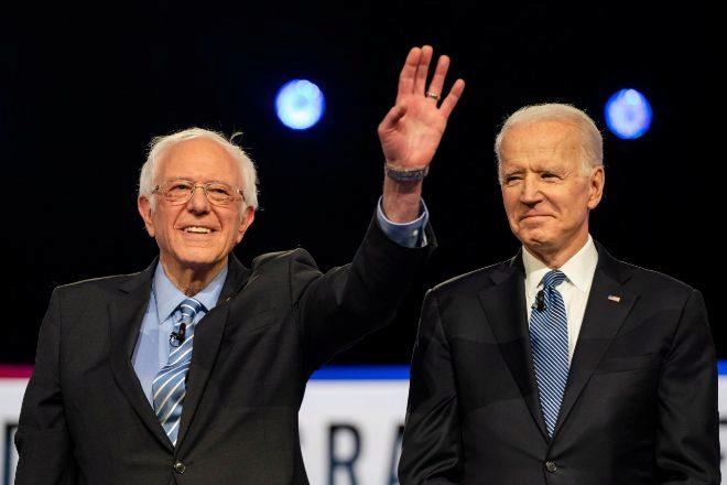 Bernie Sanders y Joe Biden.