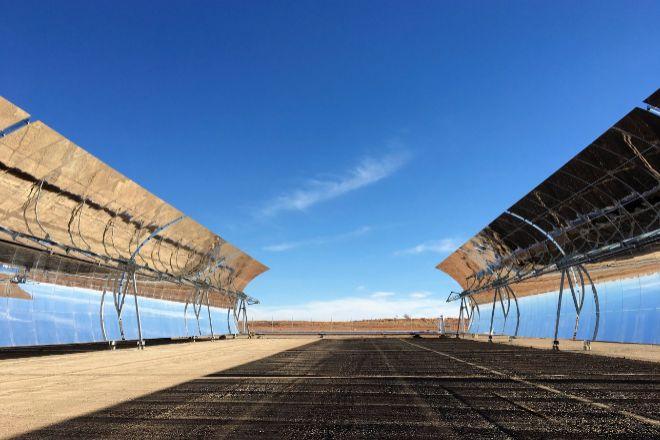 Planta de producción de energía solar de Abengoa en Sudáfrica.