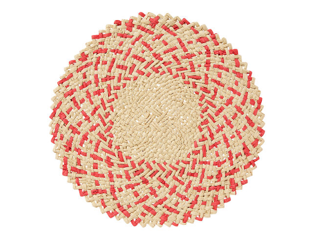 Mantel individual de papel rojo Catania. 4,95 euros.