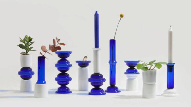 """REmix Vol.4. El """"stock"""" de una antigua línea de accesorios de baño sirvió para que Mermelada Estudio creara 60 piezas únicas de vidrio."""