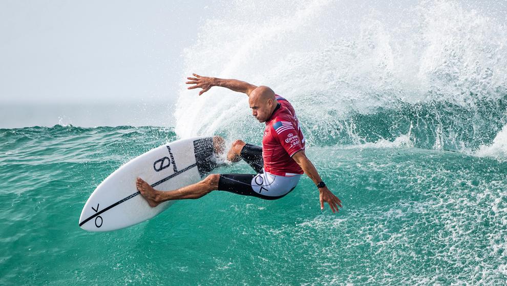 Slater, durante un torneo del Mundial de surf de la temporada pasada....