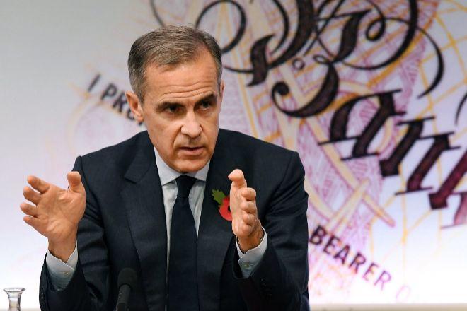El gobernador del Banco de Inglaterra, Mark Carney.