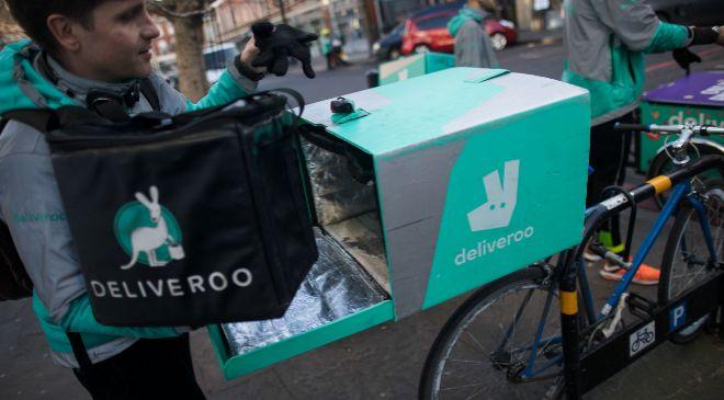 Repartidor de Deliveroo.
